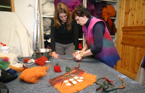 Visit to Lemmenjoki & felt making course