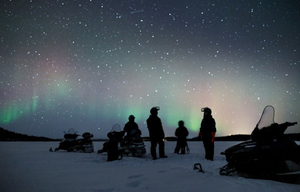 Snowmobile safari or as Aurora Borealis safari in evening